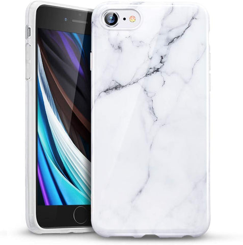 RAEGR SHIELD by ESR iPhone SE (2nd Gen, 2020) & also fits iphone 7/8 Case Marble Pattern