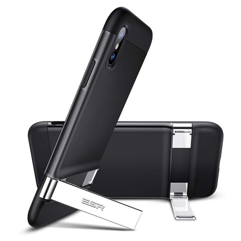 RAEGR SHIELD by ESR iPhone Xs/X Case Simplace Metal Kickstand
