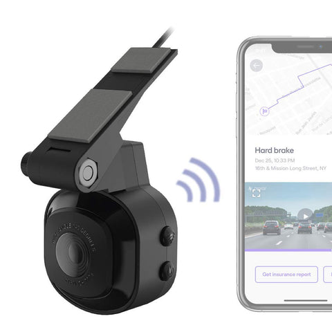 SCOSCHE Full HD Smart Windshield Dash Cam with Adhesive Mount
