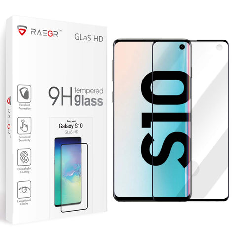 RAEGR Galaxy S10 Plus Glas HD Full Cover 3D Tempered Glass
