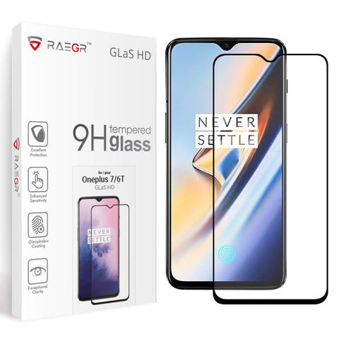 RAEGR Oneplus 7 / OnePlus 6T Glas HD Full Cover 3D Tempered Glass