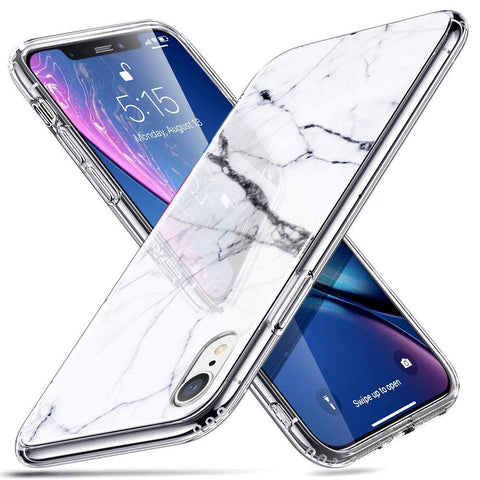 RAEGR SHIELD by ESR iPhone XR Case Mimic-Marble