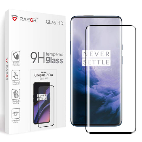 RAEGR Oneplus 7 Pro Glas HD Full Cover 3D Tempered Glass