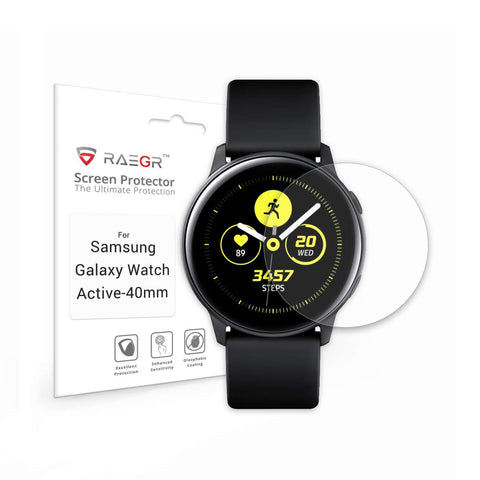 RAEGR Galaxy Watch Active - 40mm Flex HD Full Cover 2.5D Fibre Glass