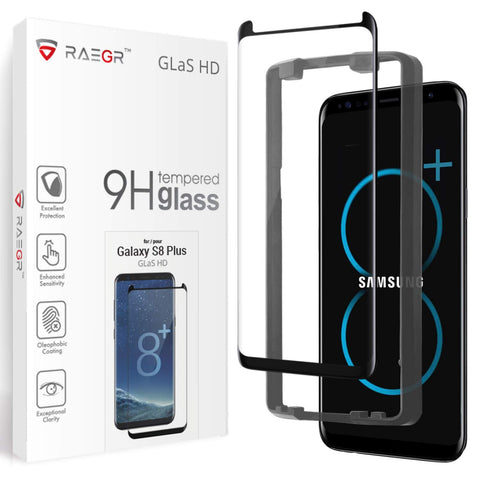 RAEGR Galaxy S8 Plus Glas HD Full Cover 3D Tempered Glass
