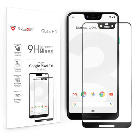 RAEGR Google Pixel 3 XL Glas HD Full Cover 3D Tempered Glass