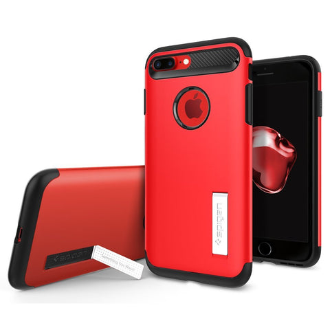 Spigen iPhone 7 Plus Case Slim Armor Crimson Red