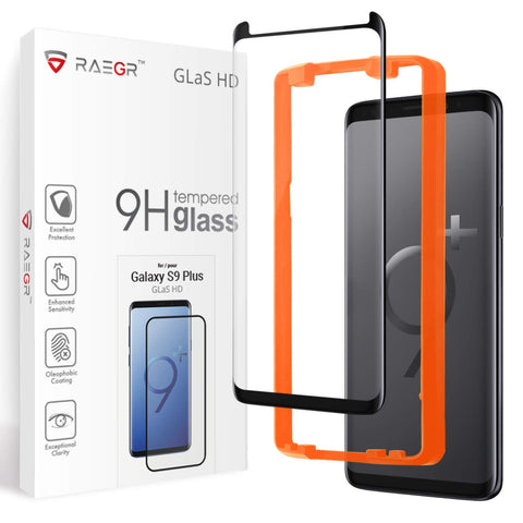 RAEGR Galaxy S9 Plus Glas HD Full Cover 3D Tempered Glass