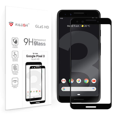 RAEGR Google Pixel 3 Glas HD Full Cover 3D Tempered Glass
