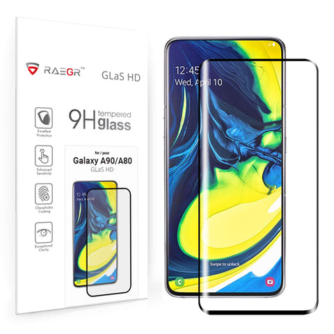 RAEGR Galaxy A90/A80 Glas HD Full Cover 2.5D Tempered Glass