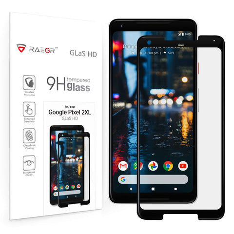 RAEGR Google Pixel 2 XL Glas HD Full Cover 2.5D Tempered Glass