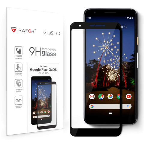 RAEGR Google Pixel 3a XL Glas HD Full Cover 2.5D Tempered Glass