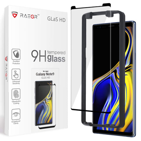 RAEGR Galaxy Note 9 Glas HD Full Cover 3D Tempered Glass