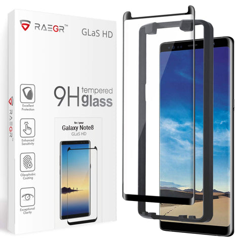 RAEGR Galaxy Note 8 Glas HD Full Cover 3D Tempered Glass