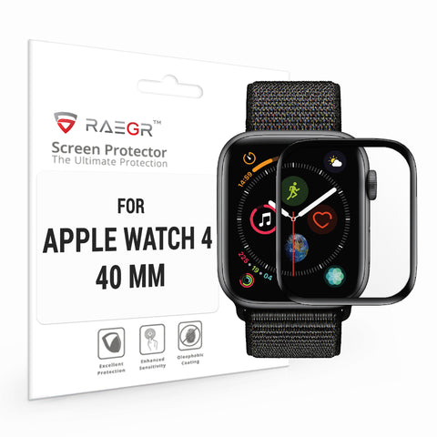 RAEGR Apple Watch 4-40mm Flex HD Full Cover 3D Fibre Glass