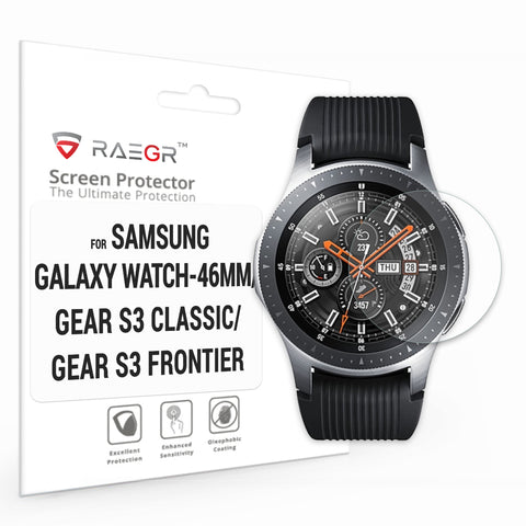 RAEGR Galaxy Watch - 46mm / Gear S3 Classic / Gear S3 Frontier Glas HD 2.5D Tempered Glass