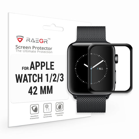 RAEGR Apple Watch 1/2/3-42mm Glas HD Full Cover 3D Tempered Glass