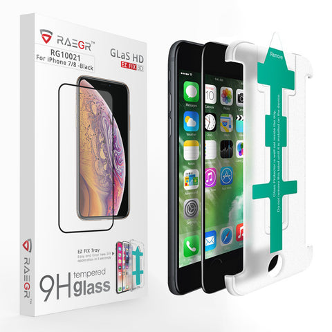 RAEGR EZ Fix Glas HD iPhone 8/7 Tempered Glass