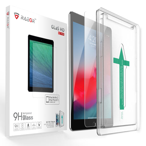 "RAEGR EZ Fix Glas HD iPad 9.7"" (2018-2016) / iPad Air/iPad Air 2 Tempered Glass"