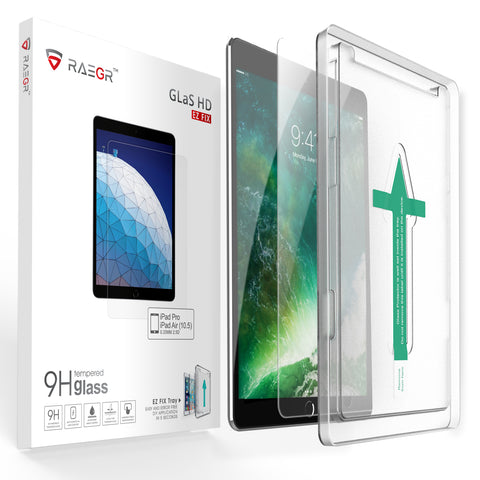 "RAEGR EZ Fix Glas HD iPad Air 2019 /iPad Pro 10.5"" 2017 Tempered Glass"