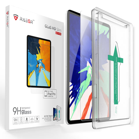 "RAEGR EZ Fix Glas HD iPad Pro 11"" ( 1st Gen/ 2nd Gen ) - iPad 10.9 Air 4 Tempered Glass"