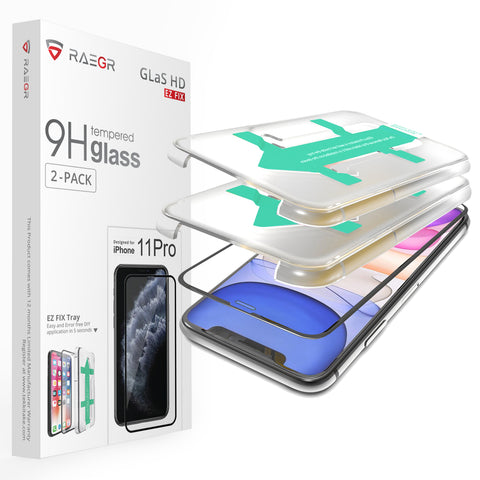 RAEGR EZ Fix Glas HD iPhone 11 Pro -3D Tempered Glass