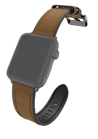 RAPTIC by X-Doria Apple Watch (40mm / 38mm) (Smaller Version) (Series 6/5/4/3/2/1) Hybrid Leather Band
