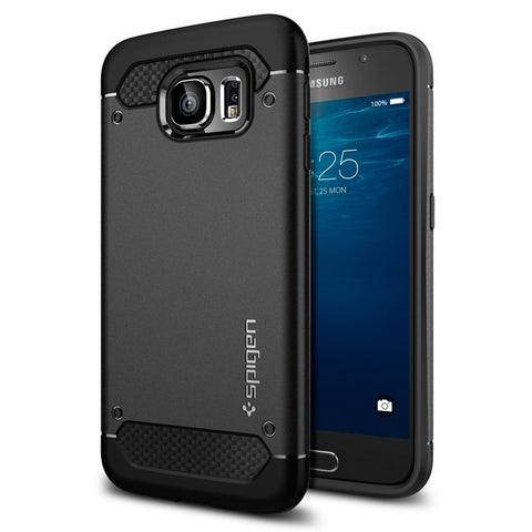 Spigen Galaxy S6 Case Capsule Ultra Rugged Black