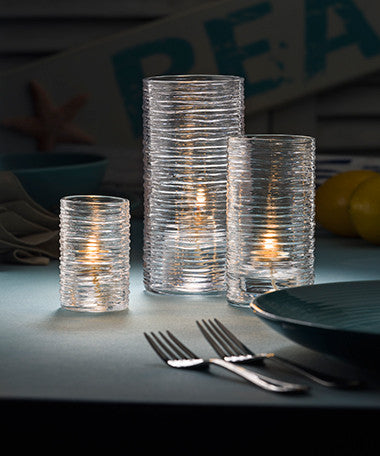 Clear Typhoon Cylinder Candle Holders - 3 sizes