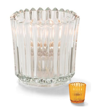 Hollowick Ribbed Glass Tealights - 2 colours