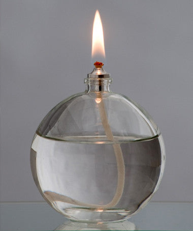 Moulded Glass Oil Candle - Ball