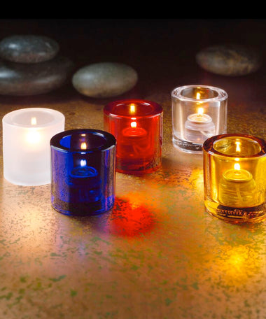 Candle Holders - Thick Tealights - 5 colours