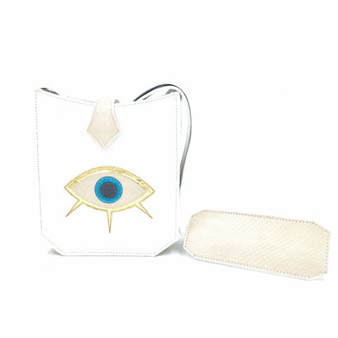 Evil Eye Mini - White