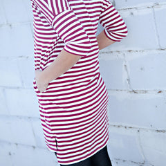 Striped Knit Tee Dress