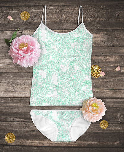 Organic Camisoles Set - Fern