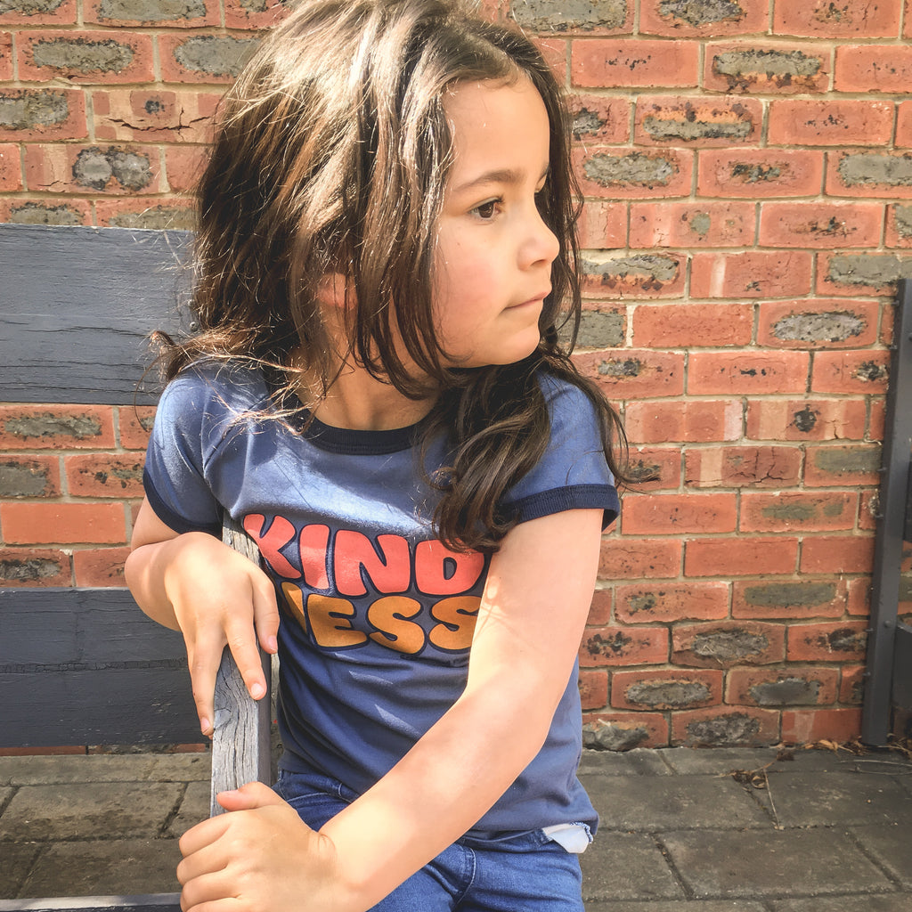 ***KIDS Organic KINDNESS tee - Blue