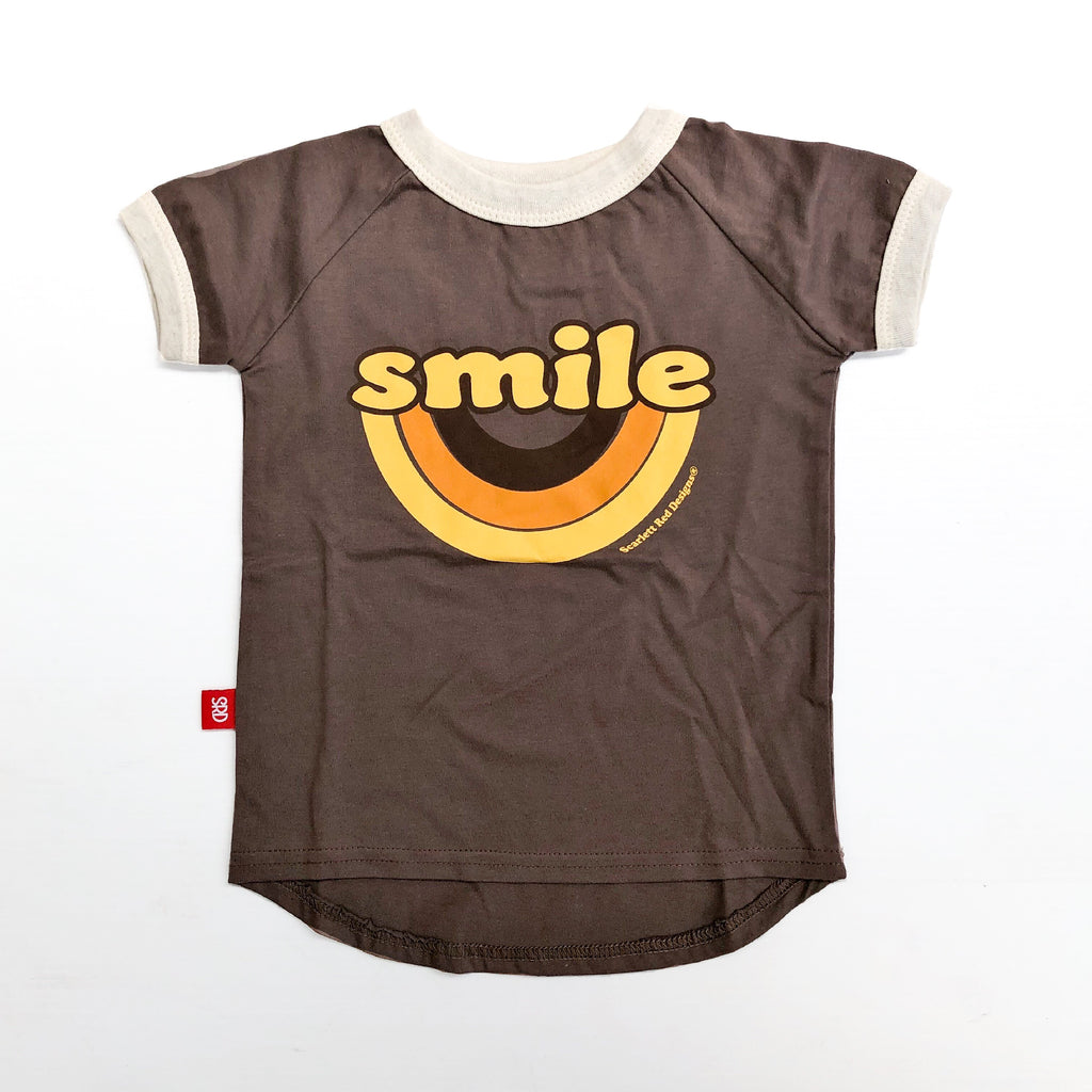 **Choc Brown Organic SMILE Tee