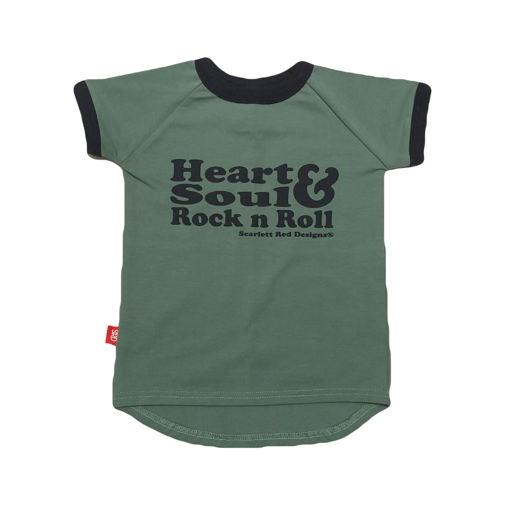 ***KIDS Organic HS&RNR Tee- TEAL with NAVY