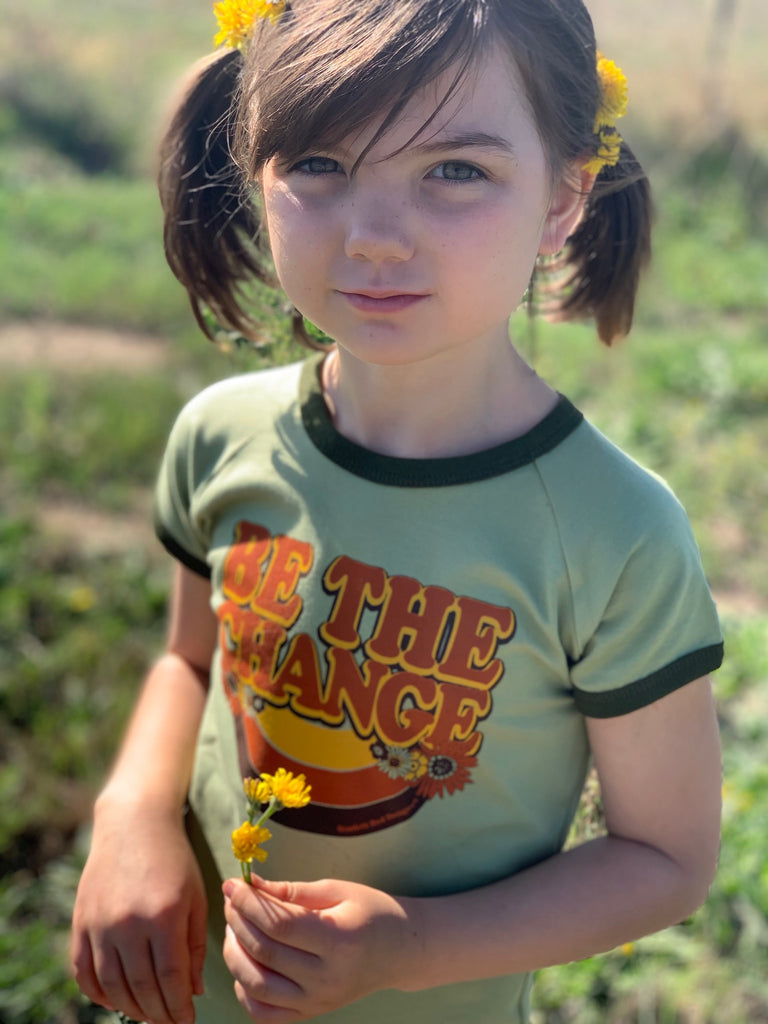 ***KIDS Organic BE THE CHANGE- GREEN with KELP