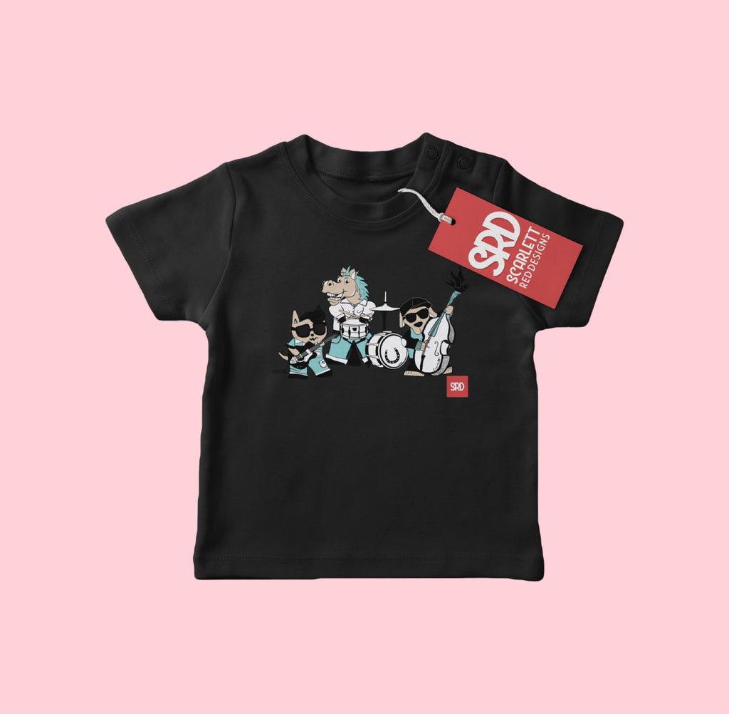 *THE BAND TEE- BLK- Scarlett Red Designs