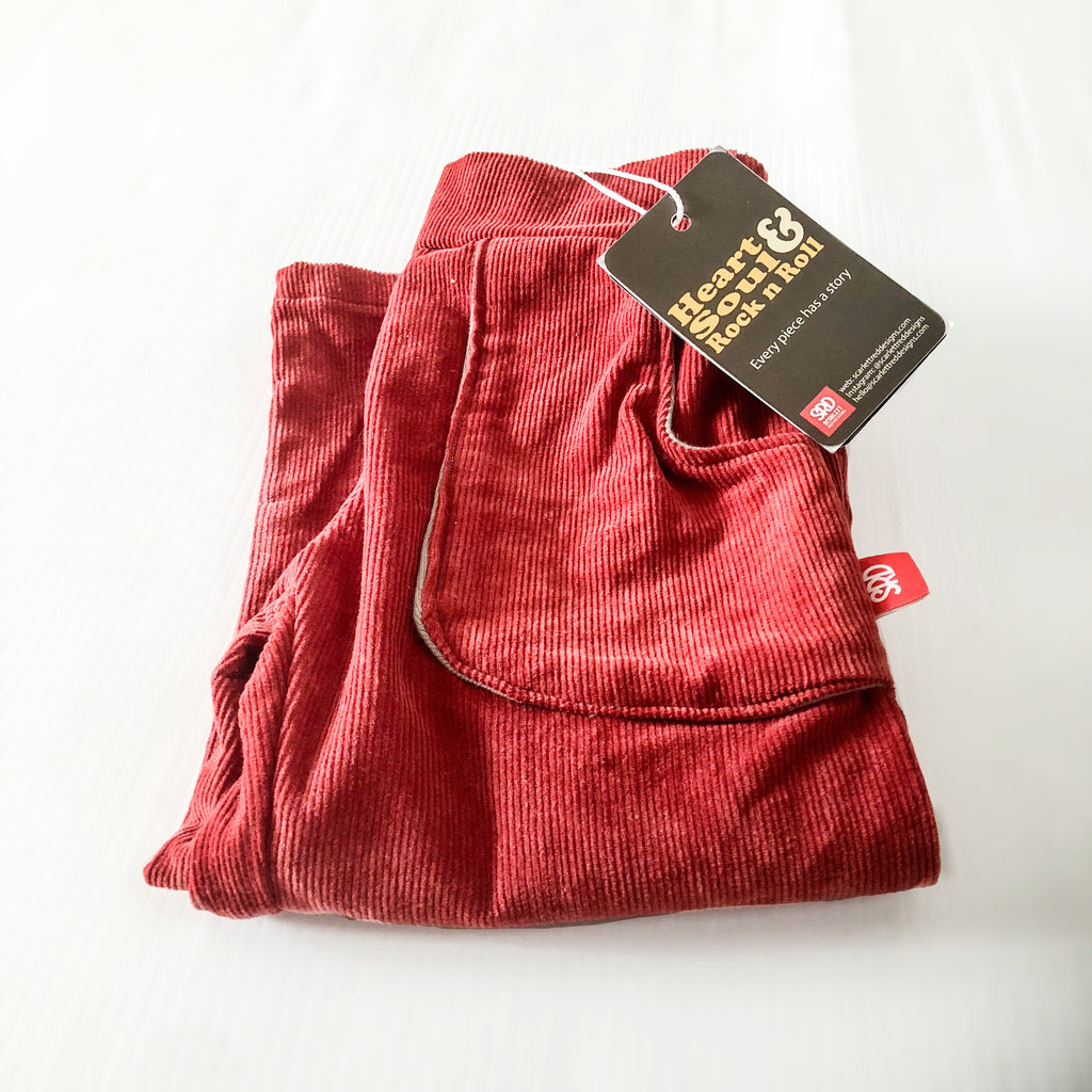 *ORGANIC Corduroy Pants -RUSTY RED