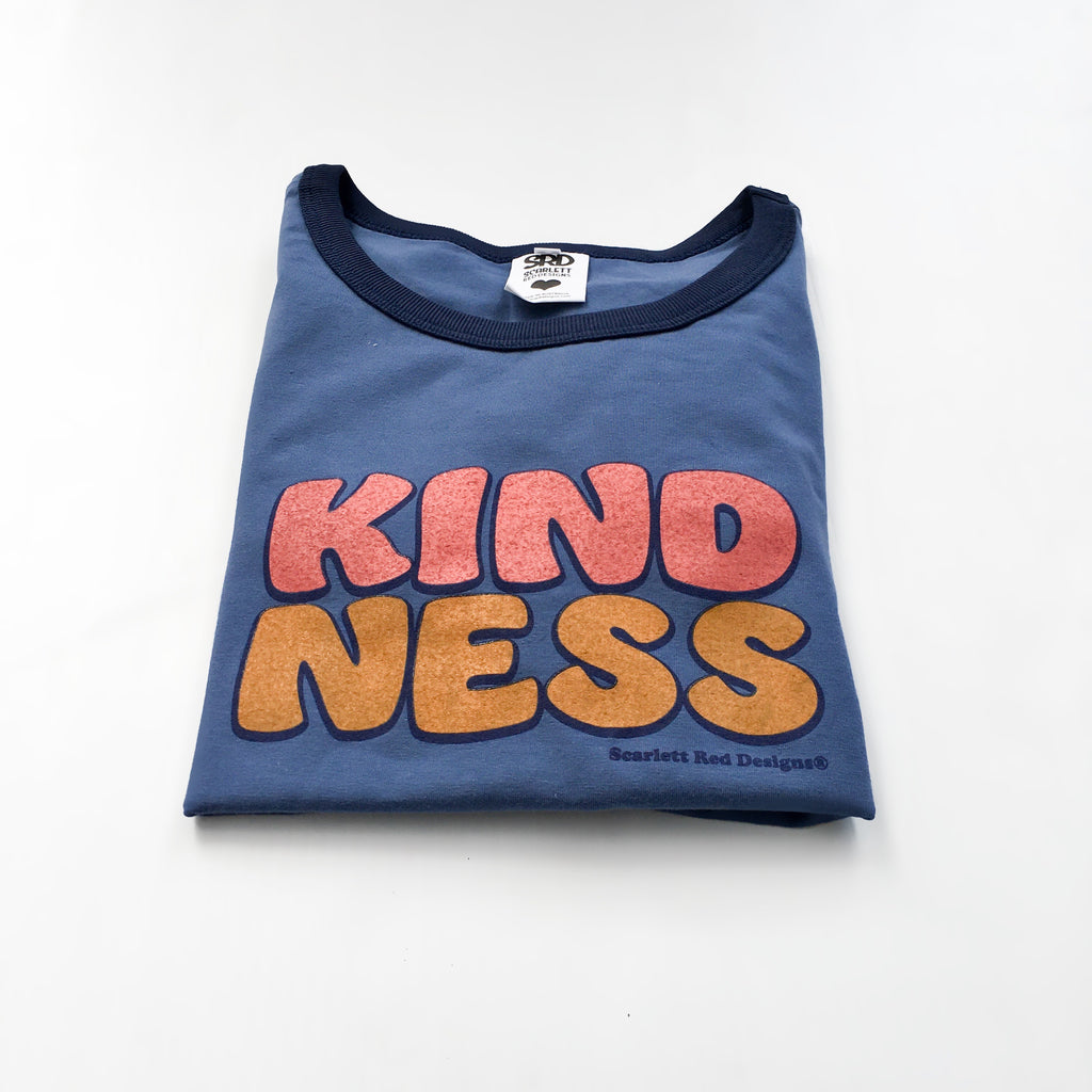 **Adult Organic KINDNESS Tee- BLUE