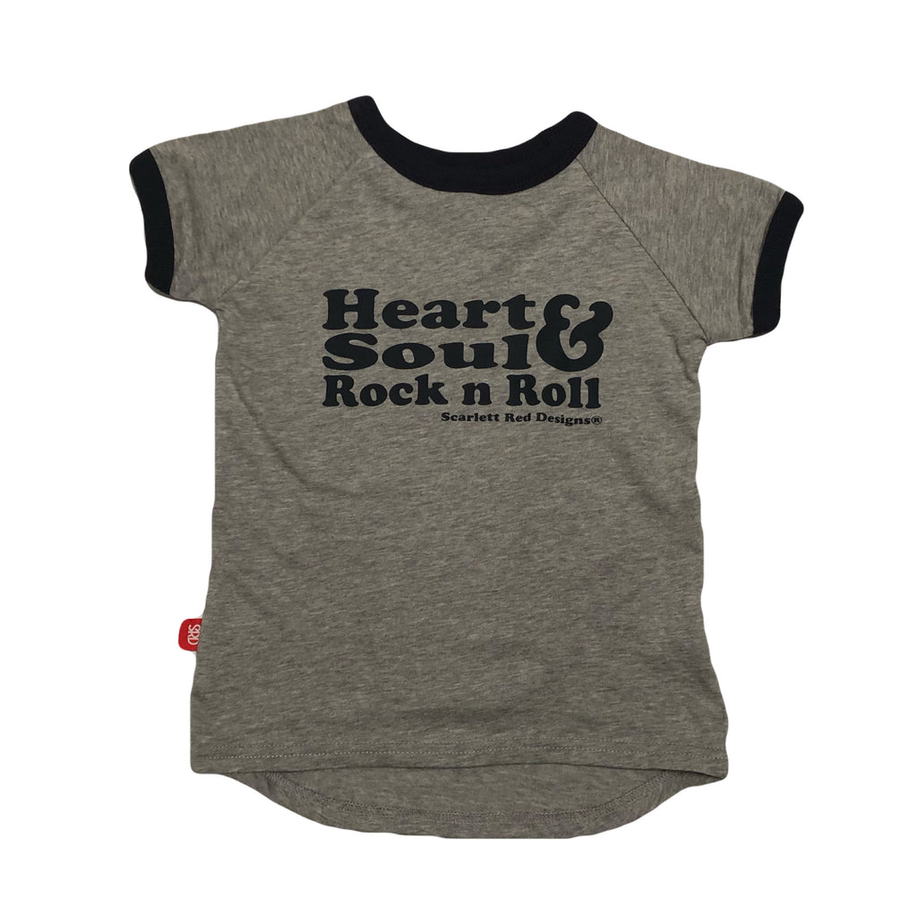 ***KIDS Organic HS&RNR Tee- GREY with NAVY