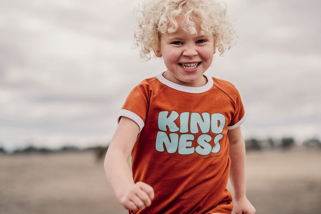 ***KIDS Organic KINDNESS- RUST with WHITE