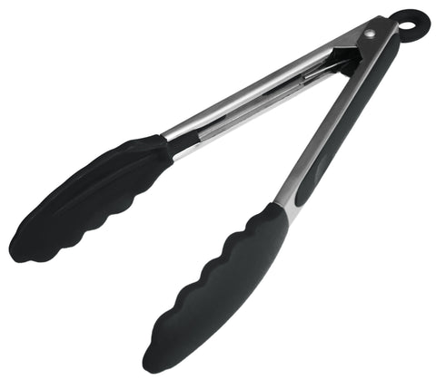 Starpack Basics Silicone Kitchen Tongs 9 Inch Stainless Steel With Non Stick Silicone Tips High Heat Resistant To 480 F For Cooking Serving