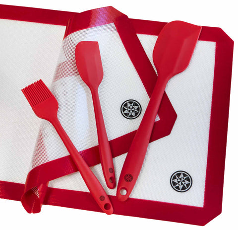 Silicone Baking Mat and Utensils Set (5 Piece)