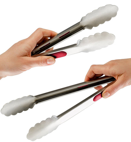 BBQ Tongs 2 Pack (12-inch & 9-inch)