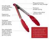 Silicone Kitchen Tongs (9-Inch)