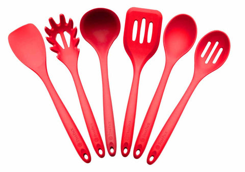 StarPack Basics XL Silicone Kitchen Utensil Set (6 Piece), High Heat  Resistant to 480°F, Hygienic One Piece Design, Large Non Stick Spatulas &  Serving ...