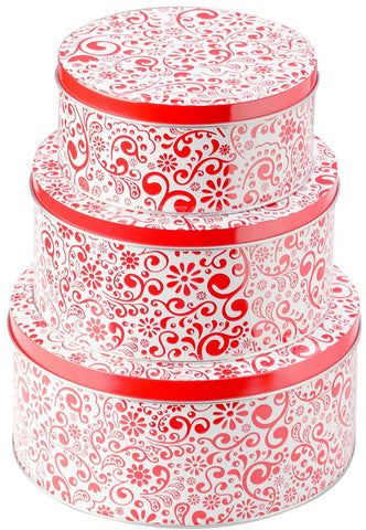 Christmas Cookie Tins Set of 3